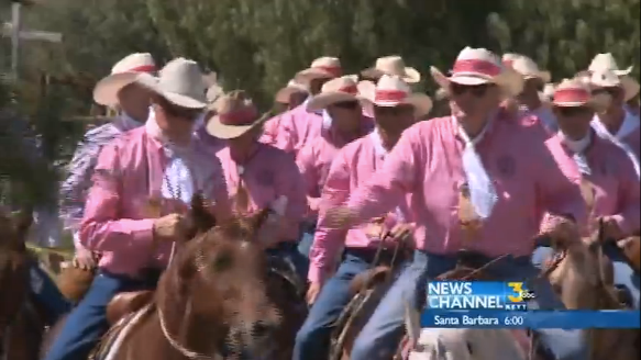 Rancheros Visitadores flooded the streets with pink in Solvang, CA